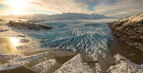 aerial glacier