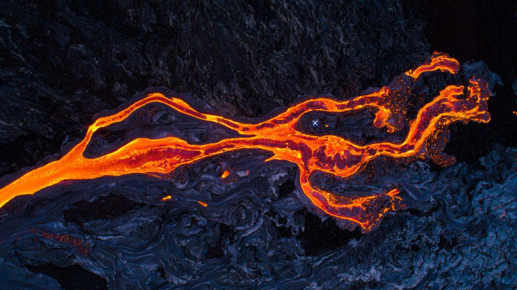 lava flow drone hawaii